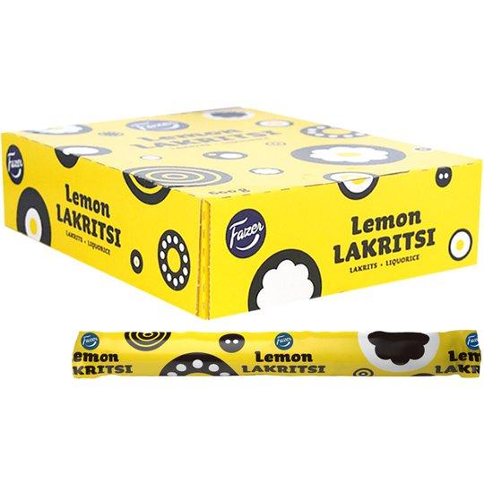 """Laatikollinen lakritsipatukoita """"Lemon"""" 30 x 20 g Fazer - 60% alennus"""