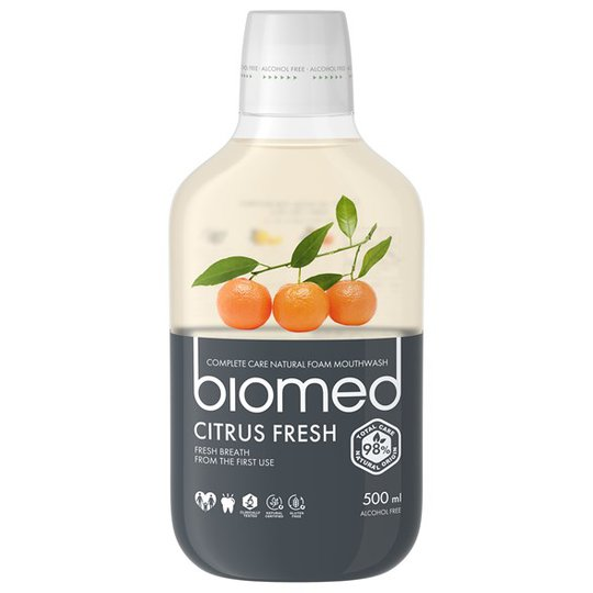 Biomed Citrus Fresh Mouthwash, 500 ml