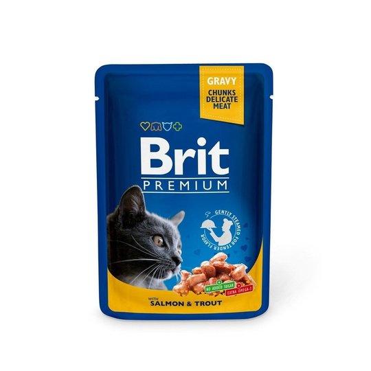 Brit Premium Portionspåsar Med Lax & Forell För Katter