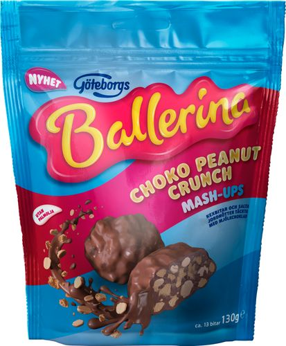 Ballerina Mash-ups Choko Peanut Crunch 130g