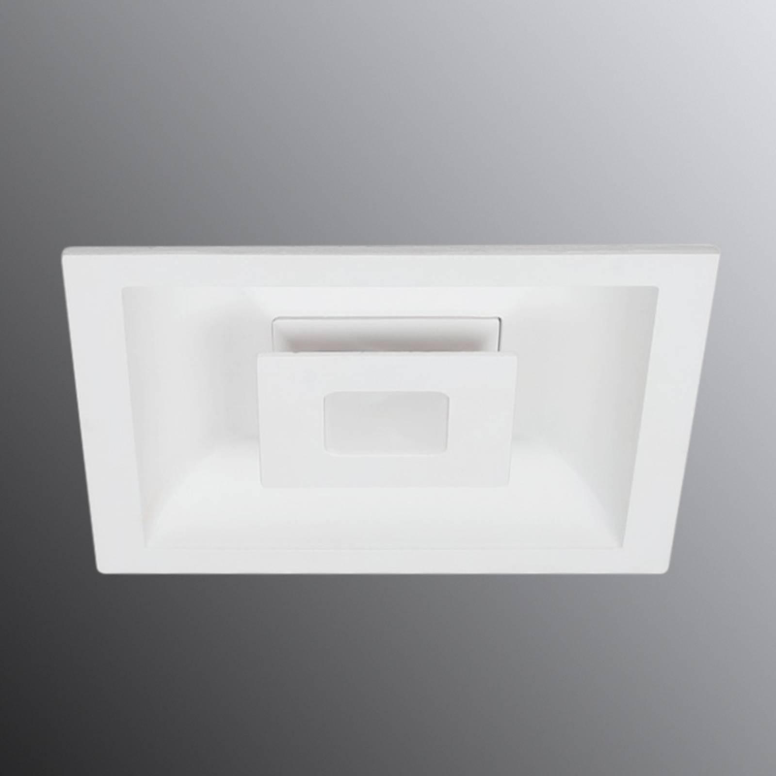 LED-kattouppovalaisin Eclipse, 2 LEDiä kulmikas