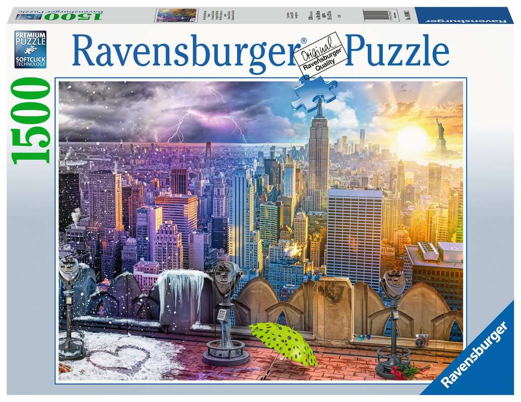 Ravensburger - Puzzle 1500 - Day & Night NYC Skyline (10216008)