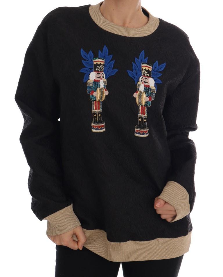 Dolce & Gabbana Women's Fairy Tale Brocade Sweater Black TSH1744-1 - IT40|S
