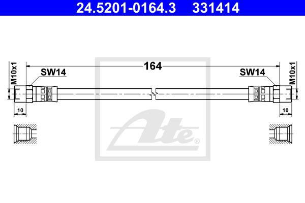 Jarruletku ATE 24.5201-0164.3