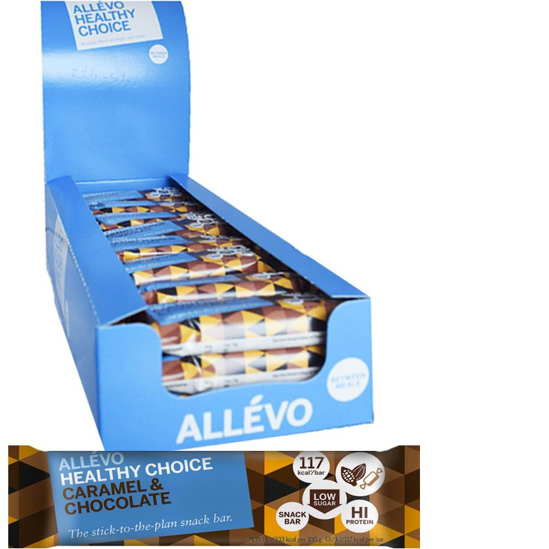 """Laatikollinen välipalapatukoita """"Chocolate & Caramel Flavor"""" 24 x 35 g - 38% alennus"""