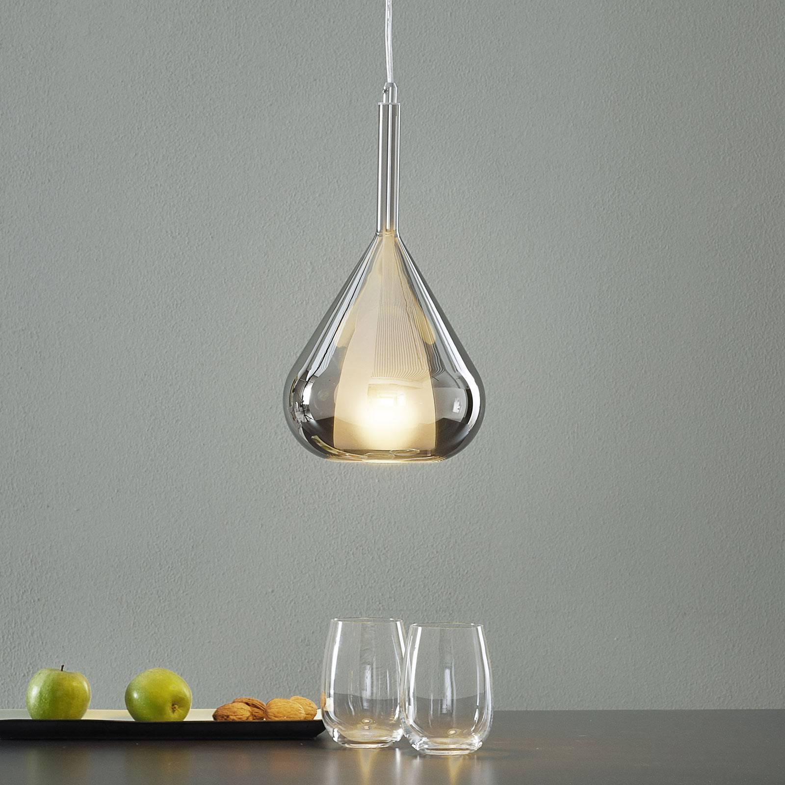 Riippuvalo Lila lasia, 1-lamppuinen, savunharmaa