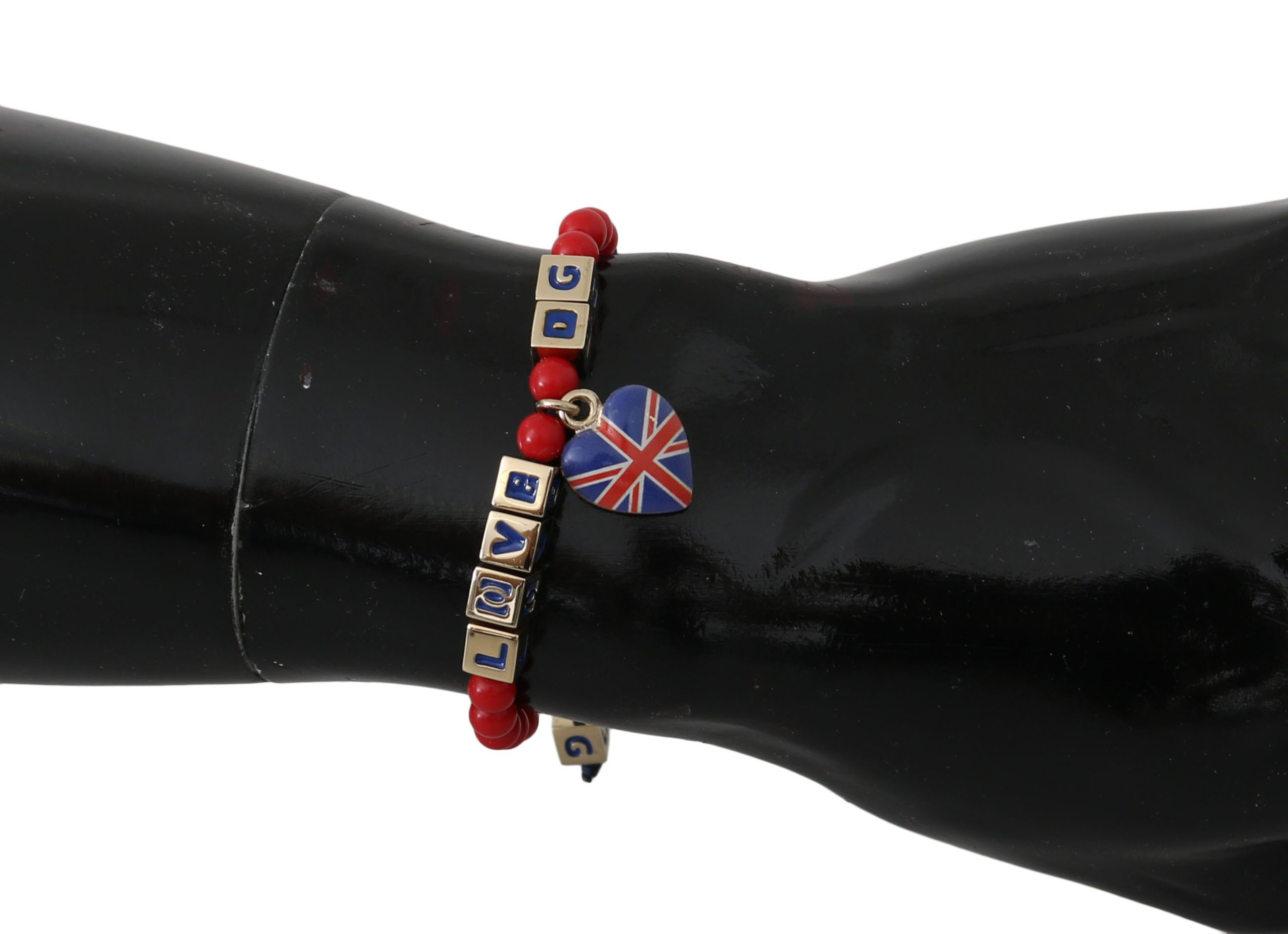 Dolce & Gabbana Women's Beaded DG LOVES LONDON Bracelet Red SMY2253