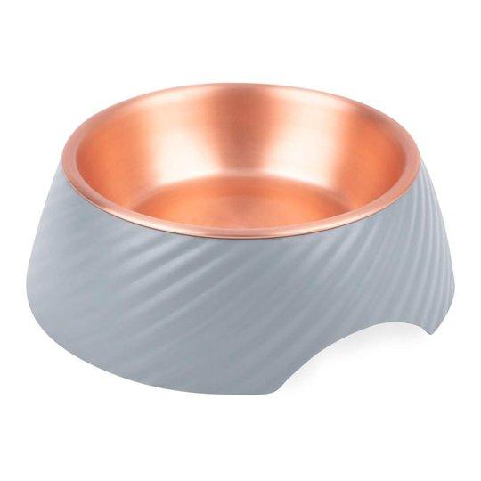 Basic Twirl Skål Grå/Koppar (160 ml)