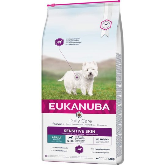 Eukanuba Daily Care Adult Sensitive Skin All Breeds (12 kg)