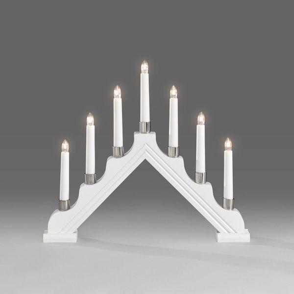 Konstsmide 1041-210 Sähkökynttelikkö 7 kynttilää valkoinen
