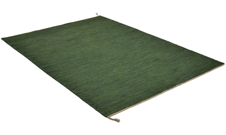 Sofiero mørkegrønn - håndvevd ullteppe