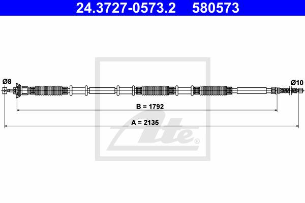 Käsijarruvaijeri ATE 24.3727-0573.2