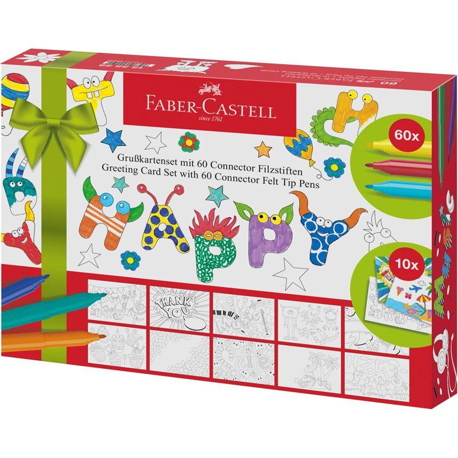 Faber-Castell - Connector felt tip pen set Greeting cards, 70 pieces (155559)