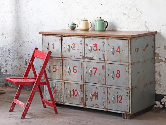Vintage Locker Cabinet Extra Large