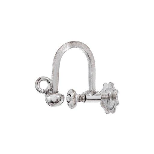 Örhänge styck med skruv i silver