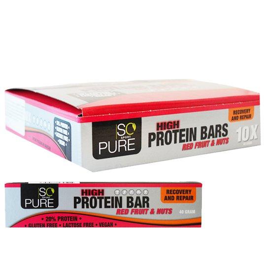 "Hel Låda Proteinbars ""Red Fruits & Nuts"" 10 x 40g - 65% rabatt"