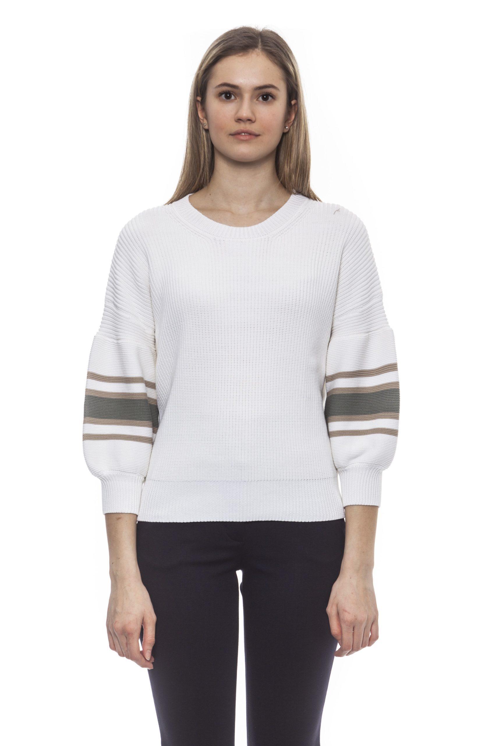 Peserico Women's Bianco Sweater White PE1383079 - IT42 | S