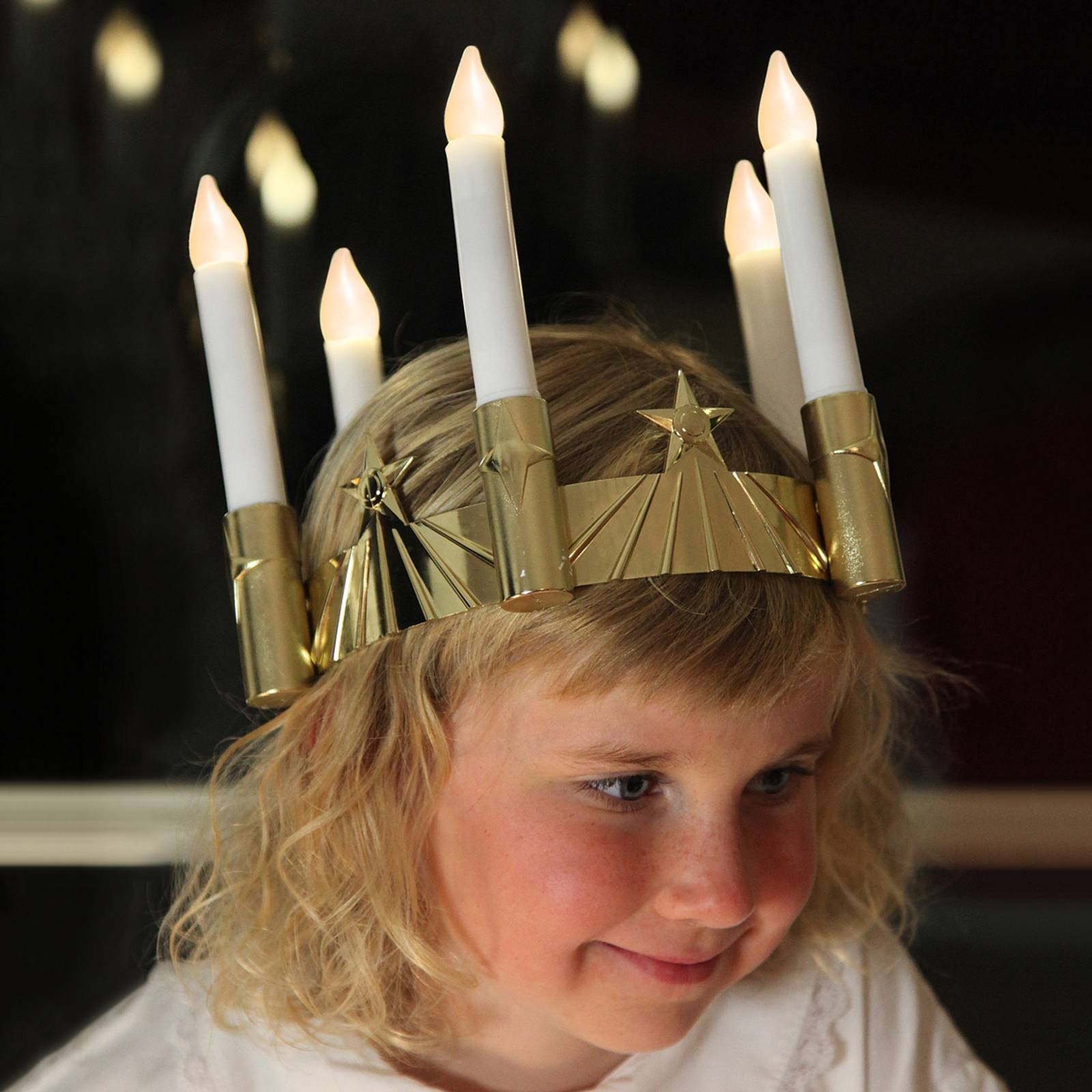 Viisilamppuinen Lucia-LED-kruunu