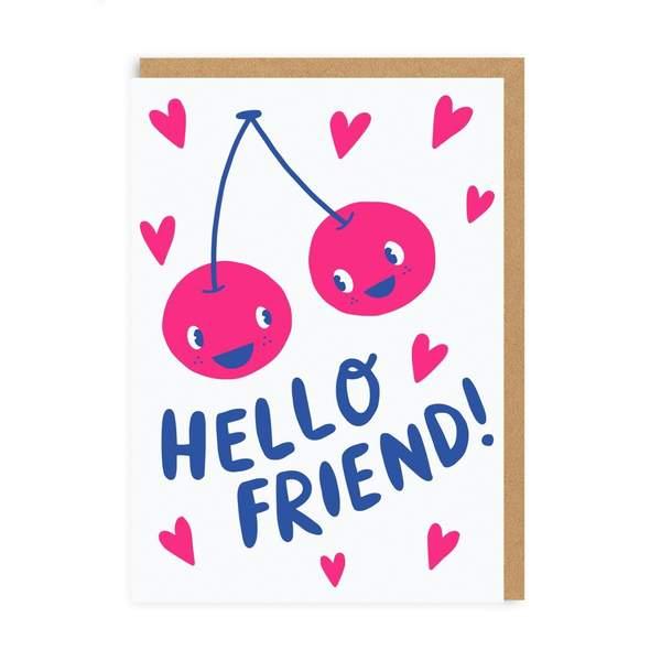 Hello Friend Greeting Card