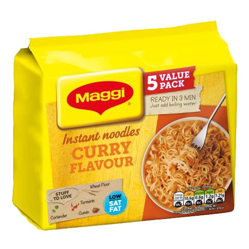 Nuudelit Curry 5kpl - 24% alennus