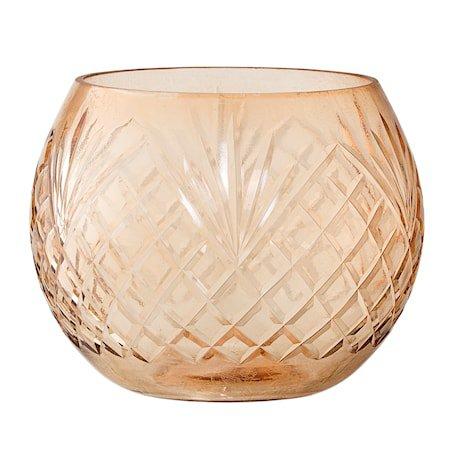 Lyslykt Brun Glass 11x10