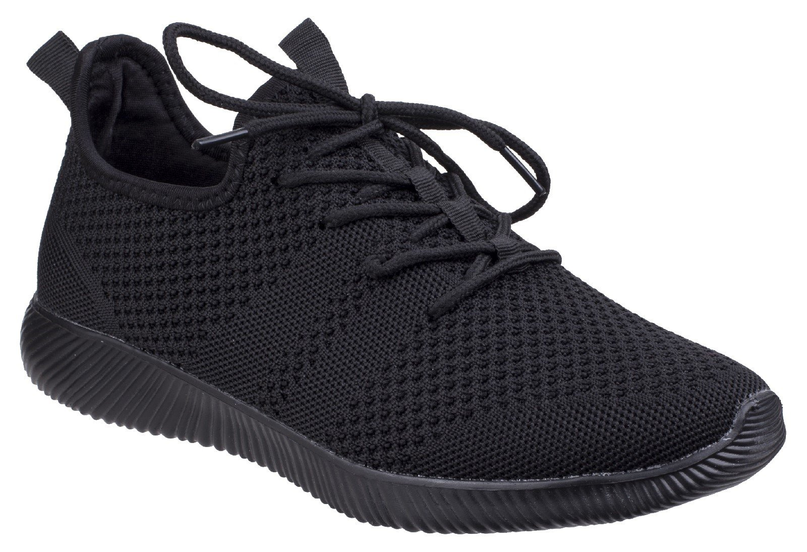 Divaz Women's Heidi Knit Trainer Grey 26327-43957 - Black 3
