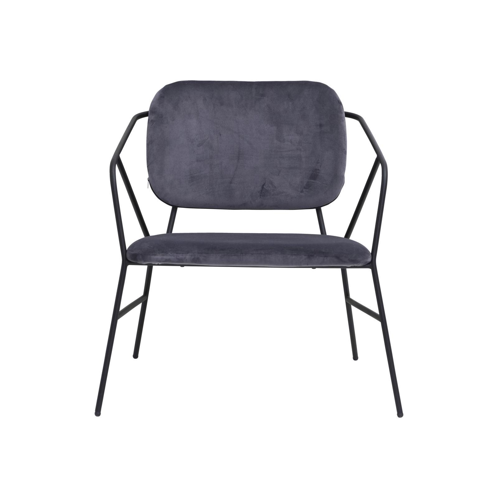 Lounge stol KLEVER grå, House Doctor