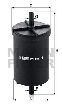 Polttoainesuodatin MANN-FILTER WK 6012