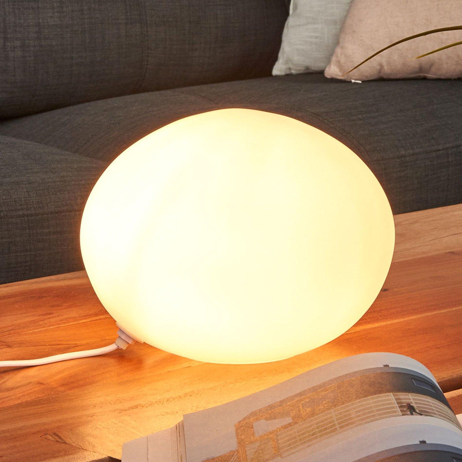 Dekorativ bordlampe Glass Oval Ø 24 cm