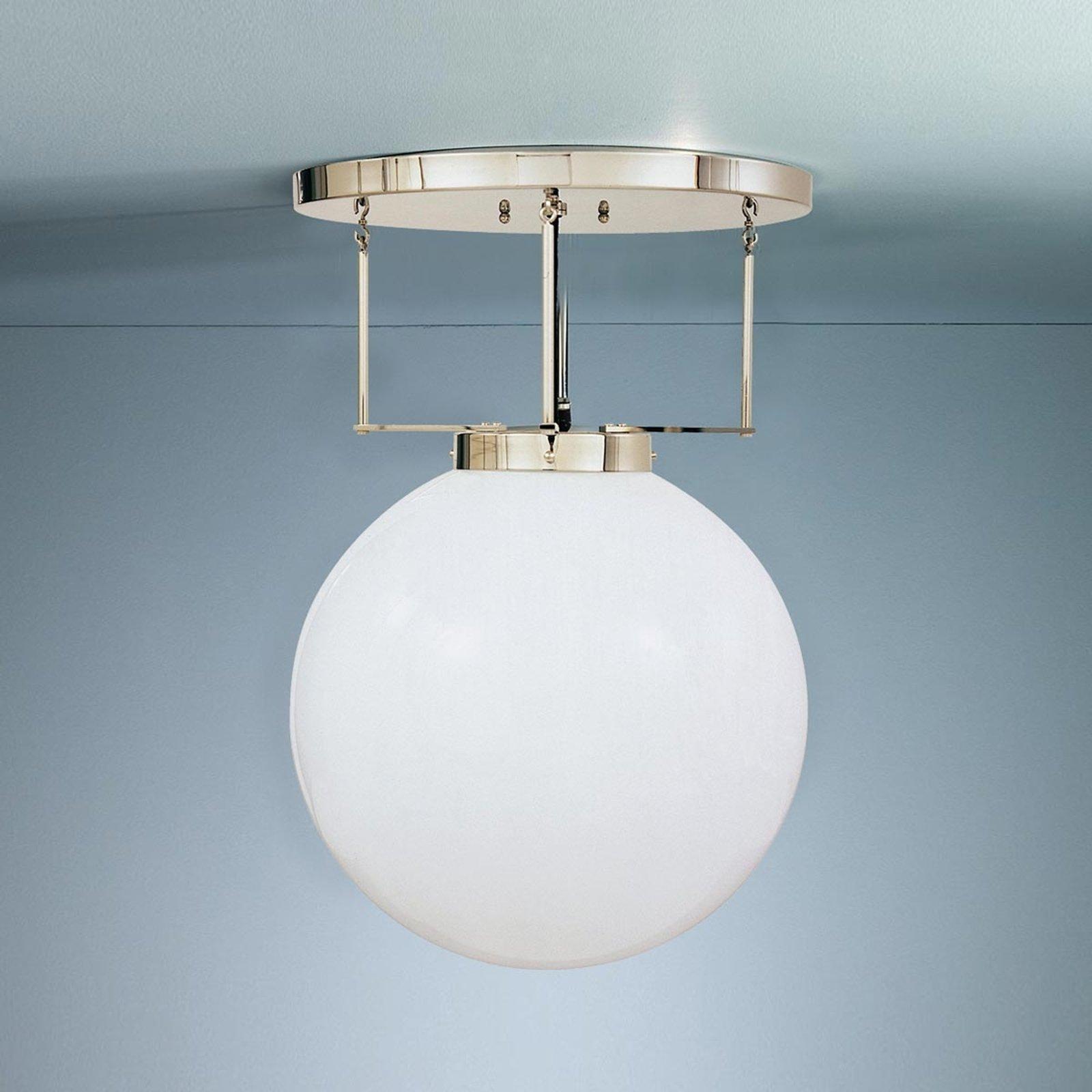 Taklampe i messing i Bauhaus-stil 30 cm
