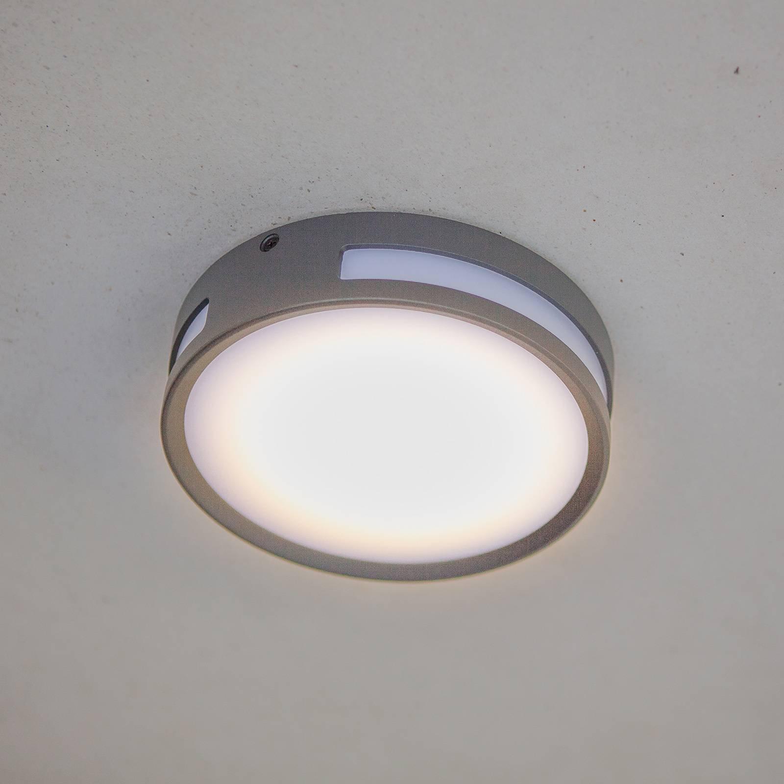 LED-taklampe Rola, utendørs, rund