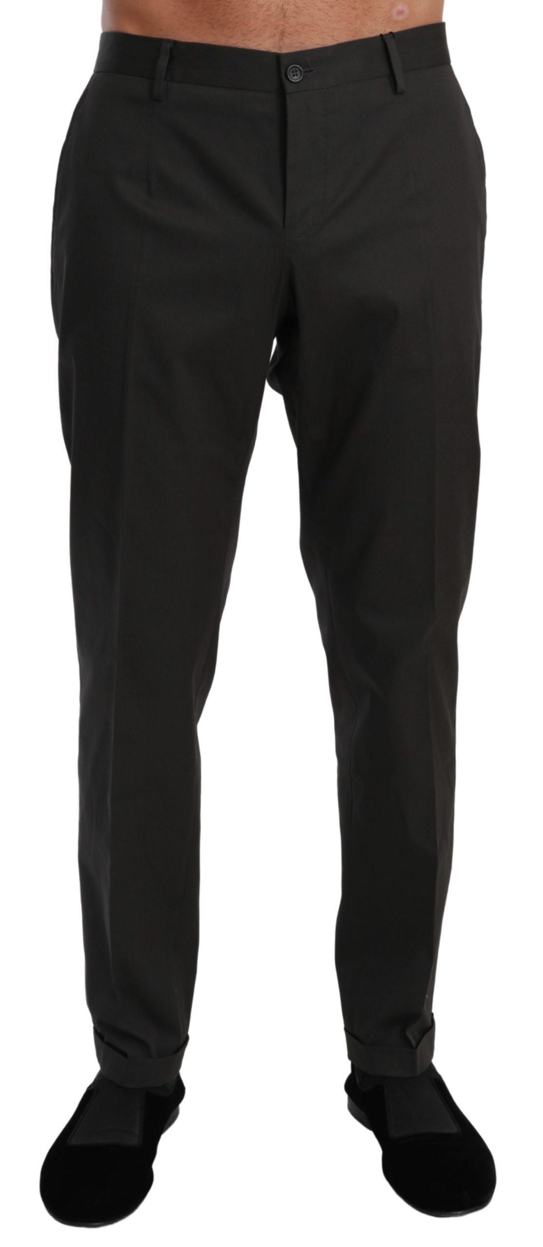 Dolce & Gabbana Men's Chinos Dress Cotton Stretch Trouser Gray PAN70999 - IT50 | L