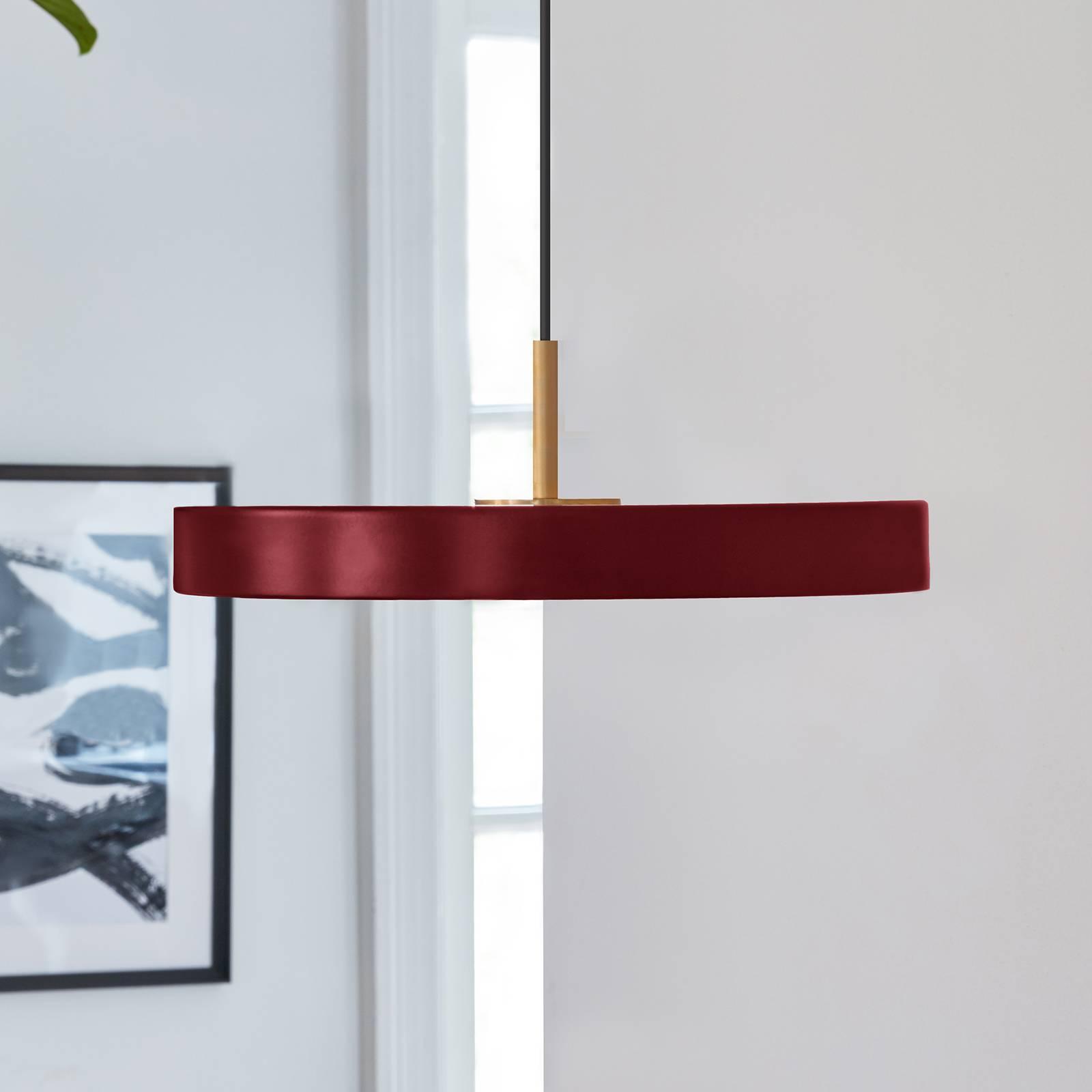 UMAGE Asteria mini -riippuvalo messinki, rubiini