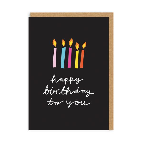 Happy Birthday To You Candles Greeting Card