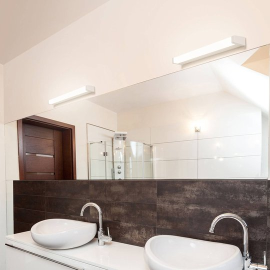 LED-speillampe 512, 3 000 K, 88 cm, hvit