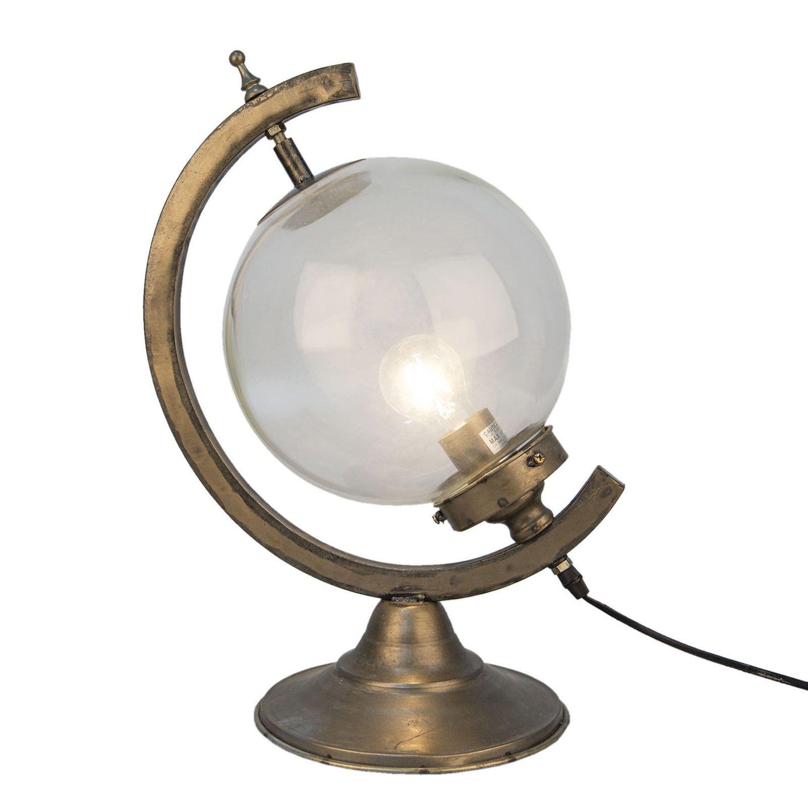 560 bordlampe, antikk globus-form