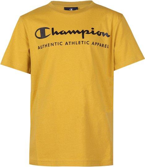 Champion Kids Crewneck T-Shirt, Lemon Curry S