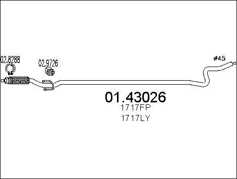 Pakoputki MTS 01.43026