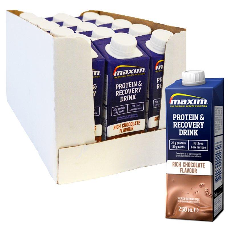 """Laatikollinen proteiinijuomia """"Recovery Chocolate"""" 15 x 250 ml - 66% alennus"""