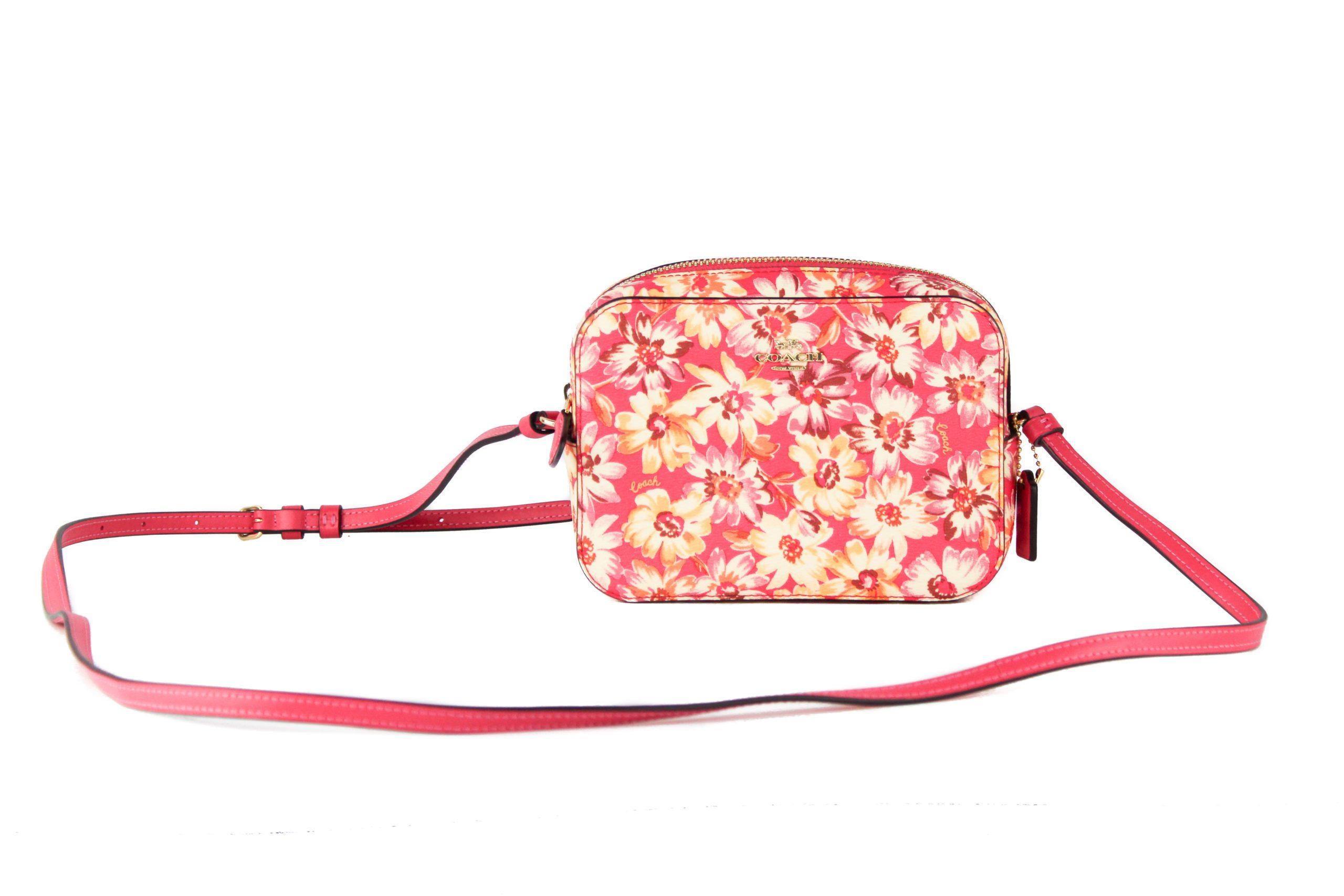 COACH Women's Canvas Leather Crossbody Bag Pink 85759
