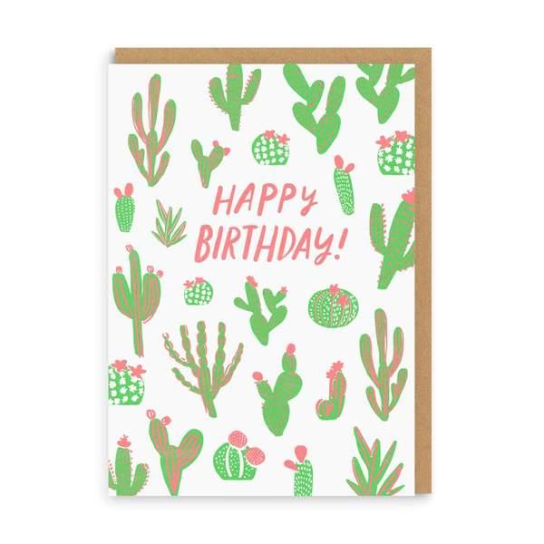 Cactus Happy Birthday Greeting Card