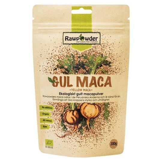 Rawpowder Ekologiskt Macapulver Gult, 200 g