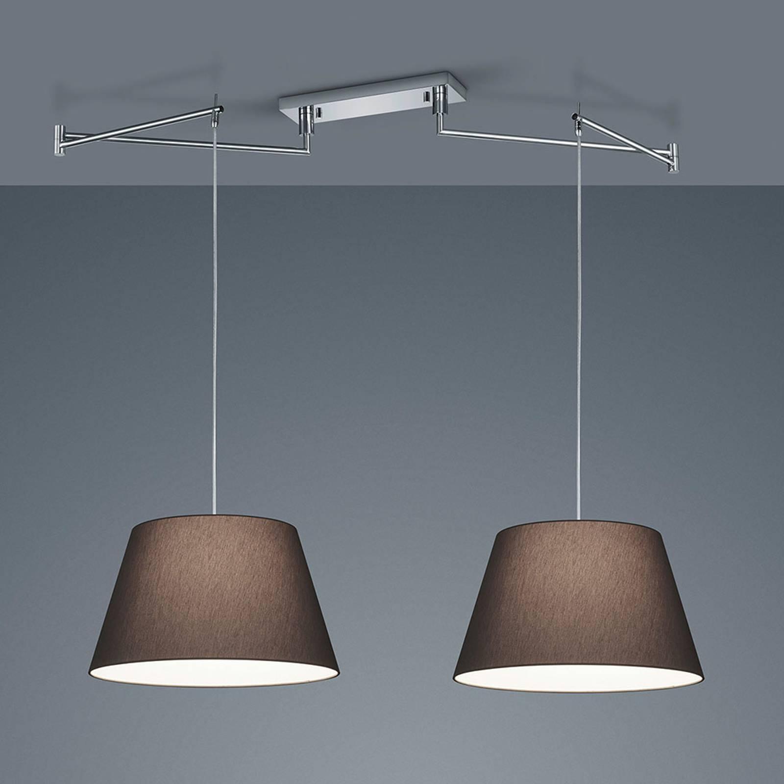 Helestra Certo -riippuvalo 2-lamp. antrasiitti