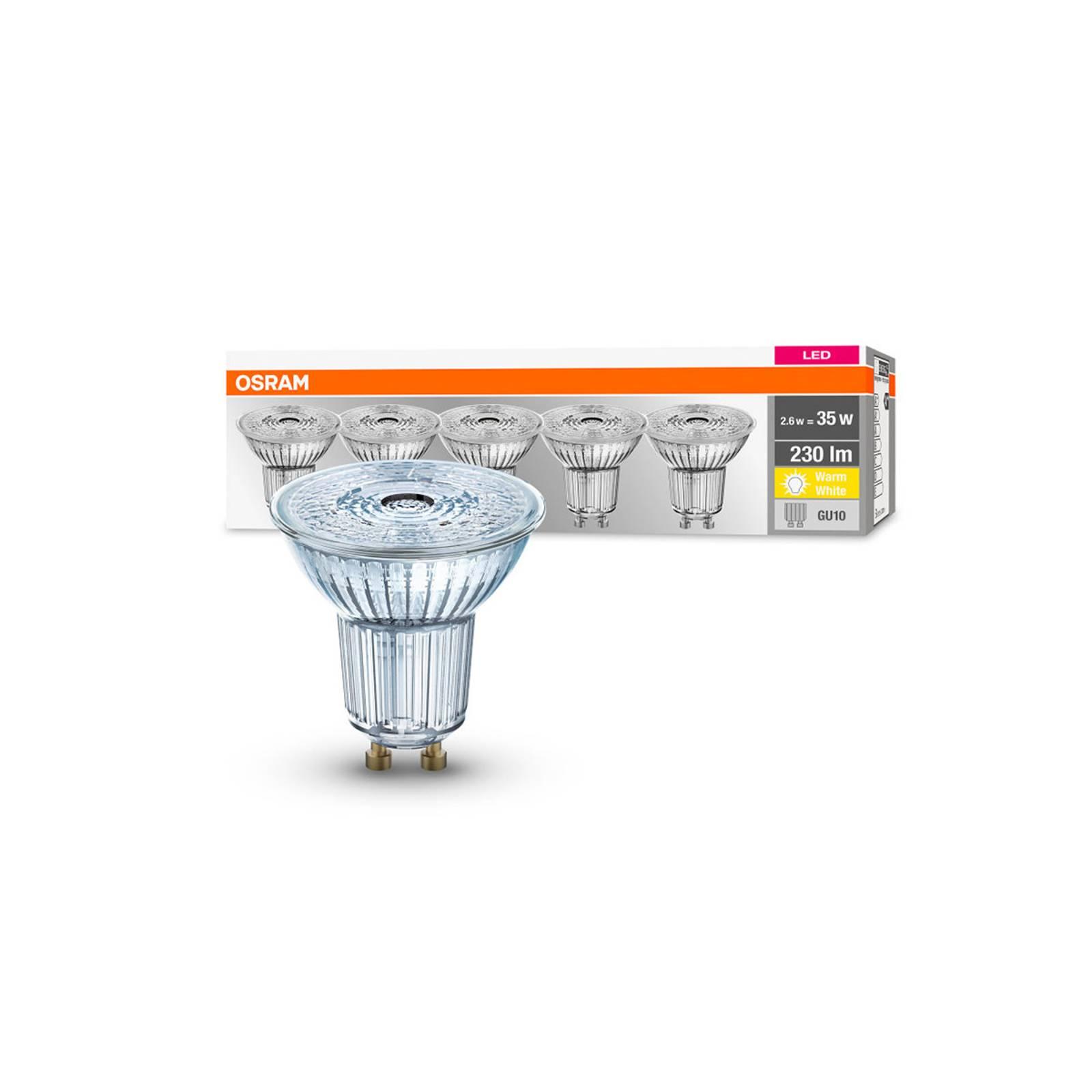 OSRAM-LED-heljastin GU10 2,6W 2700K 230lm 36, 5