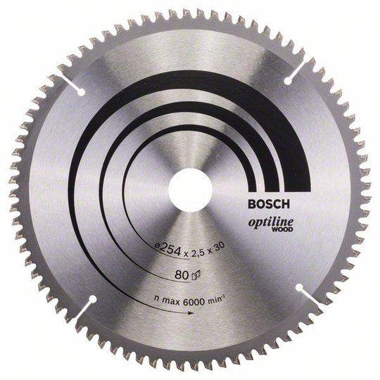 Bosch 2608640437 Optiline Wood Sahanterä 254x2,5x30mm, 80T