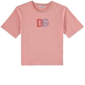 Dolce & Gabbana Logo T-shirt Rosa 4 år