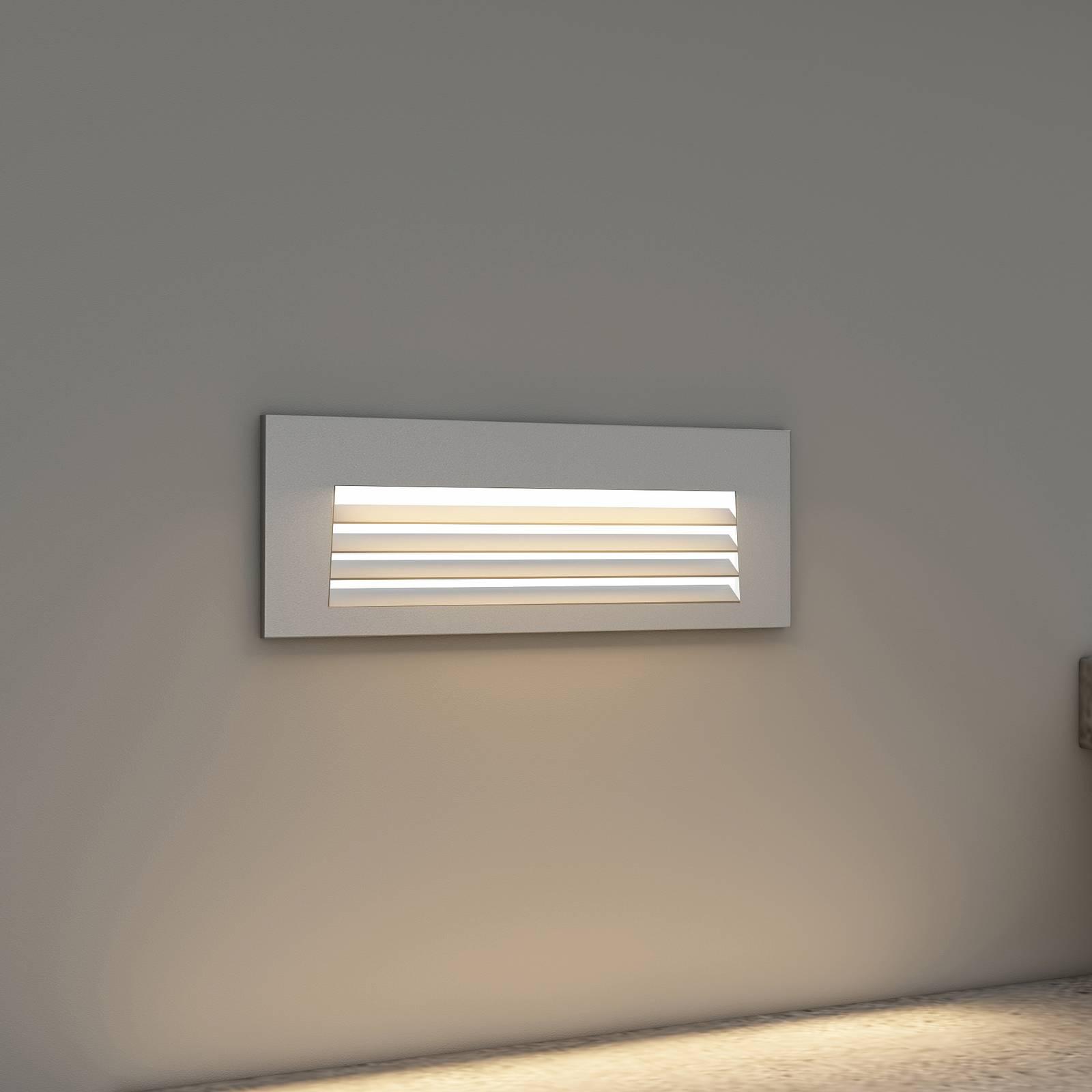 Arcchio Javis -LED-uppovalaisin, rasteri, hopea