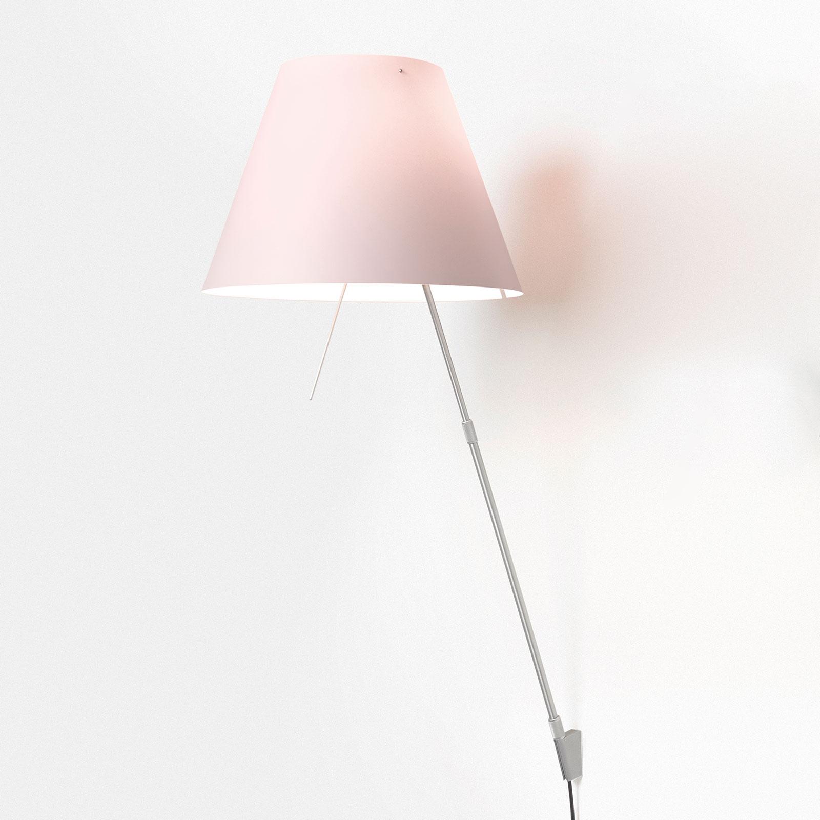 Luceplan Costanza -seinälamppu D13a alumiini/roosa