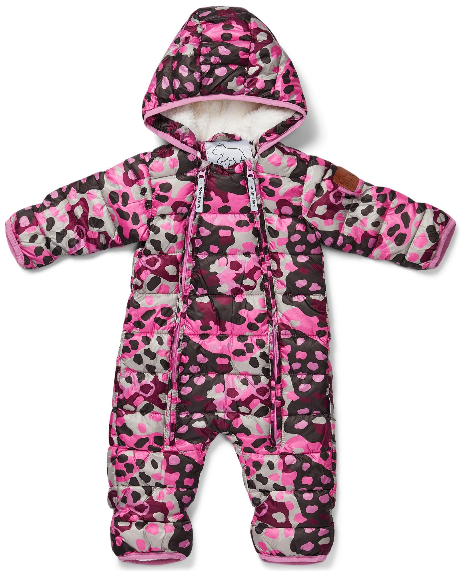 Nordbjörn Pilecub Babyoverall, Camo Pink 56