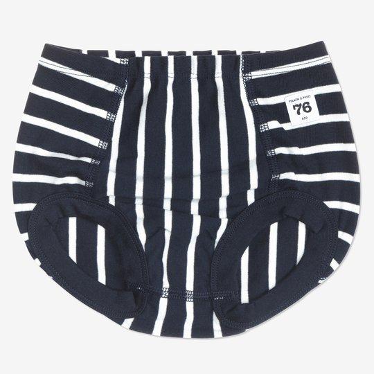 Underbukse stripet baby mørkblå